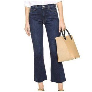 Mother High Rise Hustler Ankle Fray Jeans